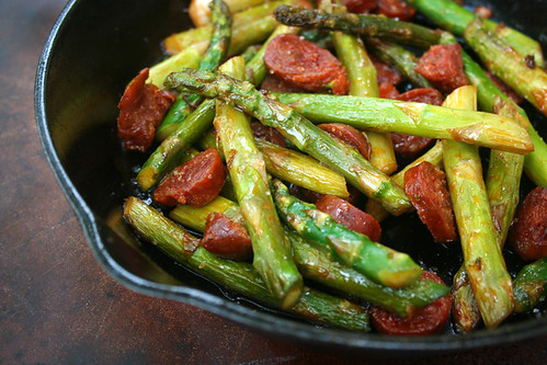 Asparagus and Chorizo
