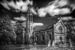 StThomas church harefield (skankypup) Tags: white black church mono tonemapped nd110 qtpfsgui