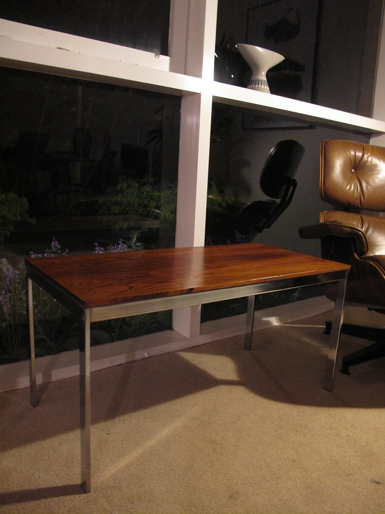 Rosewood & Chrome Coffee Table