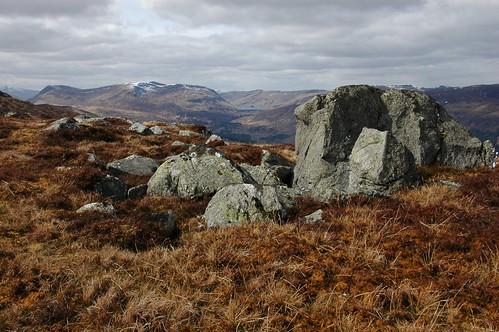 Stuchd an Lochain and Loch an Daimh from Meall nan Maigheach