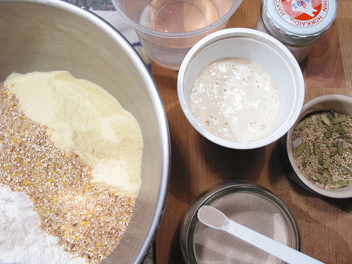 flour mix and yeast