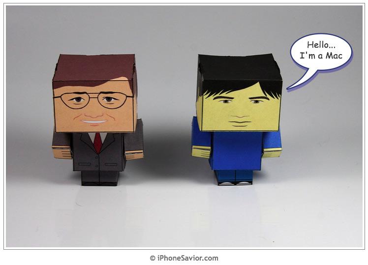 I'm A Mac & PC Cubee Cutouts