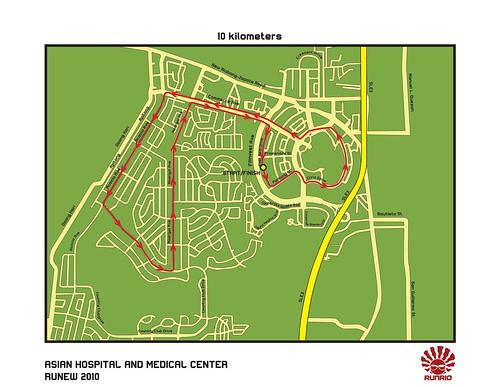 Runew 2010 - 10K Race Map