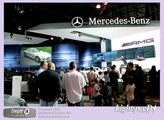 Benz3D-Booth05 (lightspeeddesign) Tags: auto york advertising one mercedes stereoscopic 3d theater mercedesbenz production sls amg stereoscopy polarization new red design ca