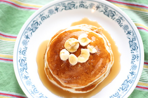 Bacon and Banana Pancakes (Shirley J Pancake Mix)