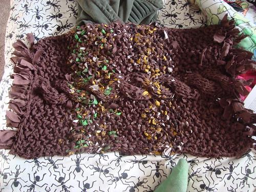 knit bath rug!