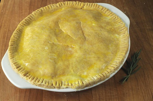 unbaked rosemary potato pie
