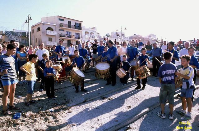 tamburini in concerto (festa ad ASPRA )