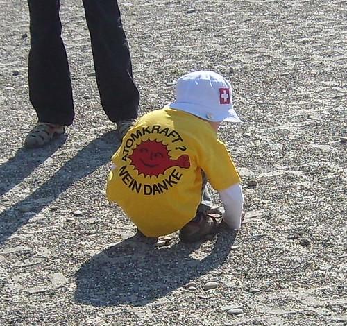 Junge(r) Demonstrant beim Bau des Endlagers?