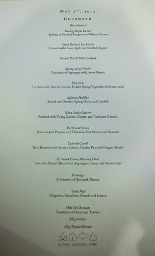 Gourmand Menu
