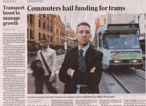 Pic in The Australian, 5/5/2010