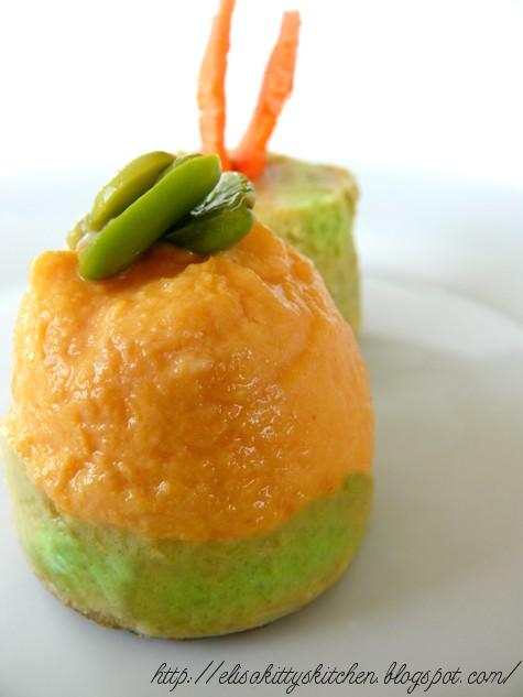 Flan fave e carote