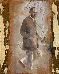 Conder, Charles (1868-1909) - 1890c. Portrait of the Artist Tom Roberts (Art Gallery of New South Wales, Australia) (RasMarley) Tags: english 19thcentury australian painter figure impressionism artistportrait conder heidelbergschool figureportrait charlesconder