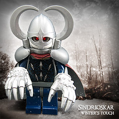 Sindrioskar, Winter's Touch (Morgan190) Tags: winter snow cold ice halloween silver scary hands lego creepy minifig custom m19 minifigure brickforge morgan19