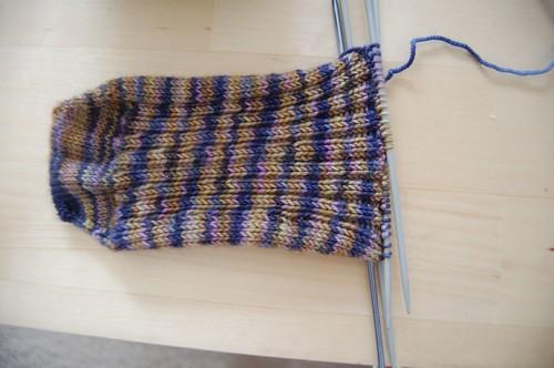 WIP: 2x2 rib sock