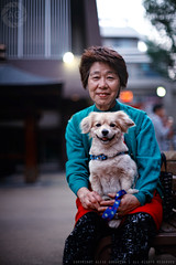 Pet Love: Sugamo, Tokyo (Alfie | Japanorama) Tags: portrait woman dog japan lady portraits japanese tokyo oldlady sugamo streetportraits peoplephotography japanesedogs peoplewiththeirpets nikkor50mmf12ai nikond700 ladywithadog sugamoobachanharajuku