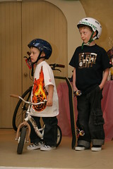 Odin and Hayden Hessel are ready for some fun with gear and clothing available from their parents' store Outside Projects.