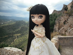 Alba (Lois Wayne) Tags: black castle forest doll flat alba bosque wig chip pullip custom rozen negra castillo maiden mueca coolcat almena peluca obitsu xtiva jativa souseiseki
