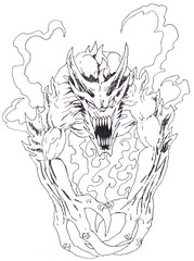 Monster Creature Drawing (Wayne Tully) Tags: art drawing fantasy lessons pencildrawing creatureart drawingprojectsmonstercreature drawlessons
