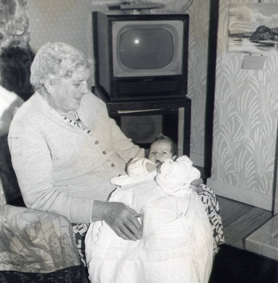 Valerie with Gran McCreath 1960s