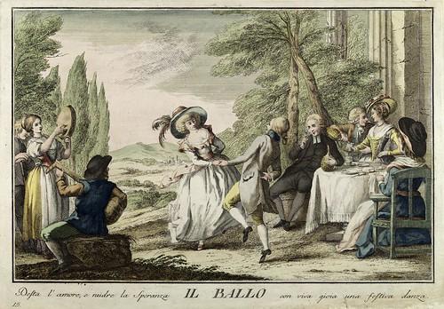 012-La danza- Giuochi Trattenimenti e Feste Annue Che si Costumano in Toscana 1790- Giuseppe Piattoli