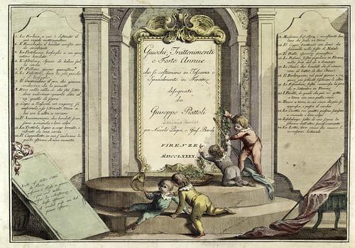 000-Portada-- Giuochi Trattenimenti e Feste Annue Che si Costumano in Toscana 1790- Giuseppe Piattoli