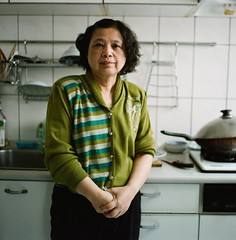 Dear Mom (ChihPing) Tags: life portrait 120 6x6 film home kitchen mediumformat mom fuji iso400 mother taiwan 66 professional negative pro fujifilm taipei   fujinon   ebc   80mm fujicolor   400h         gf670