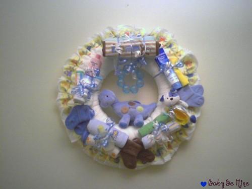 Baby Boy diaper wreath