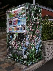Shimoda's Shiroyama Park Hydrangea Themed Vending Machine (only1tanuki) Tags: japan japanese vendingmachine 日本 hydrangea shimoda ajisai 紫陽花 自動販売機 あじさい izupeninsula 伊豆半島 shizuokaprefecture 静岡県 shiroyamapark 城山公園 下田市 shimodacity shimodapark 下田公園 平成22年 themedvendingmachine