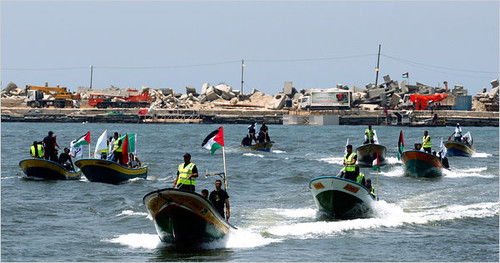 Gaza boat fleet awaiting the arrival of a solidarity delegation designed to highlight and break the siege on this region of Palestine.  by Pan-African News Wire File Photos
