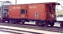 Western Pacific bay window caboose # 482. From the internet.