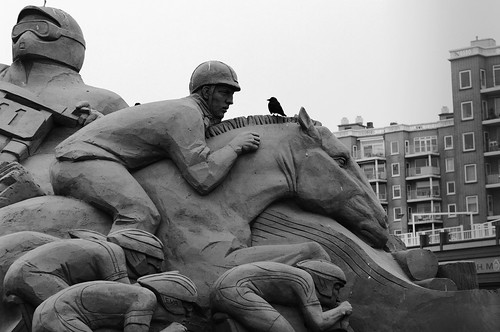 sand sculptures in Scheveningen