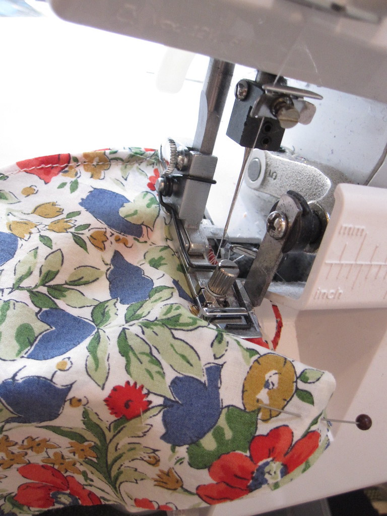 French Seam:  Use Serger for First Pass