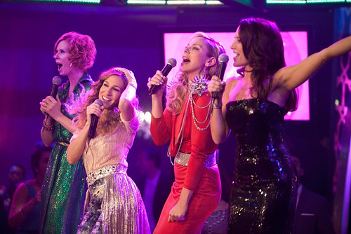 (L-R) Cynthia Nixon, Sarah Jessica Parker, Kim Cattrall and Kristin Davis let loose in 'Sex and the City 2'.