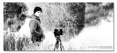 Josh. ([ Kane ]) Tags: camera morning portrait people bw white lake black water grass reflections person dawn tripod josh nsw 5d kane 70200 armidale gledhill peterlik 50d kanegledhill kanegledhillphotography