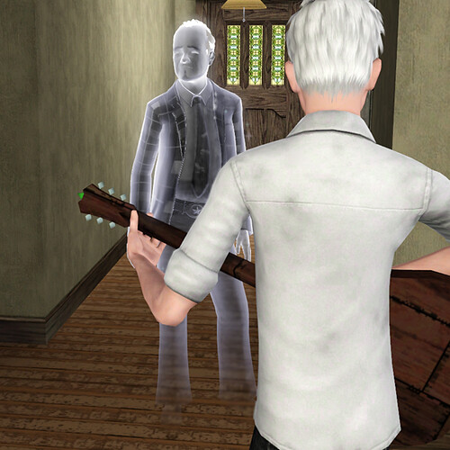 Cornelius watches Ghost play
