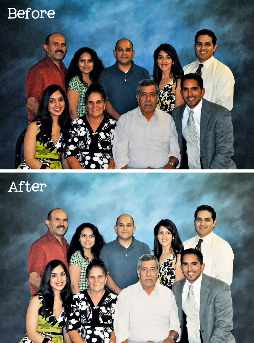 Family Portrait Before and After
