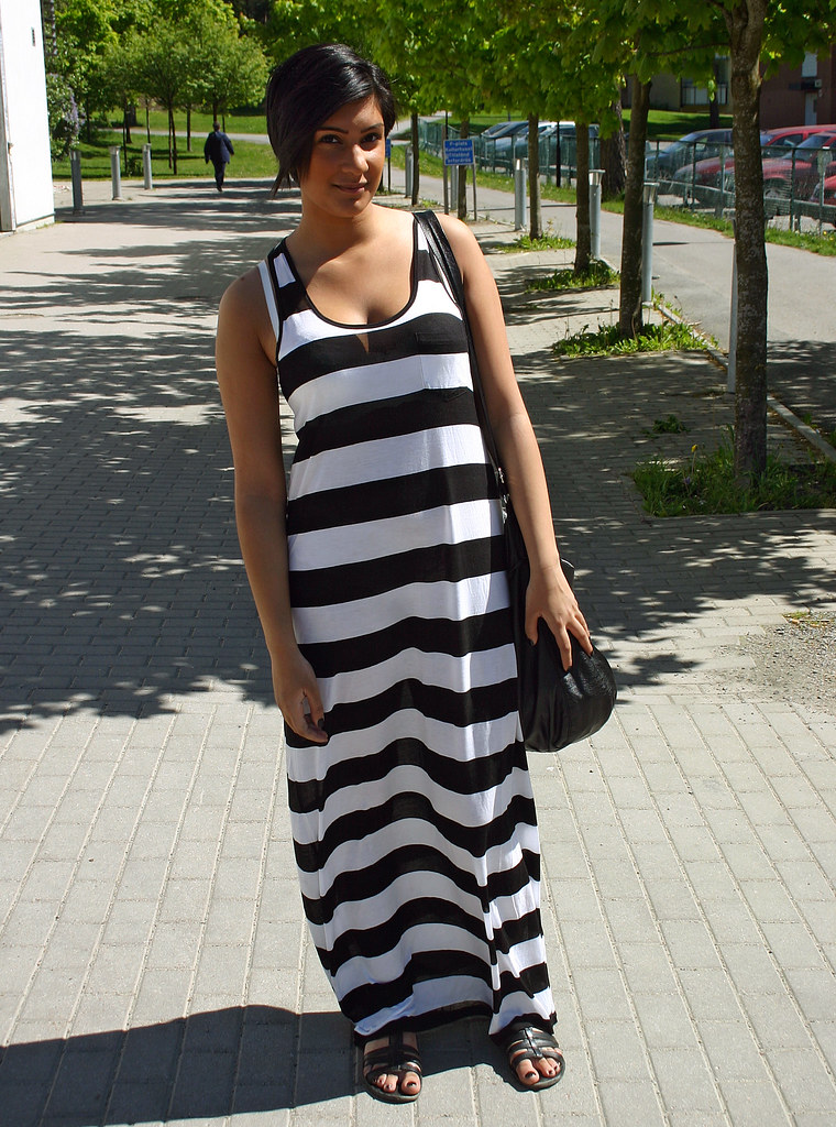 The Girl With The Striped Dress