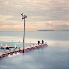 Ektar colour (zane&inzane) Tags: longexposure blue light cloud mist seascape mamiya tlr beach pool bike rock swimming landscape sydney wave australia mona pelican pole vale nsw narrabeen monavale twinlensreflex northernbeaches collaroy warriewood c330 northnarrabeen c330s 80f28 birdwoodpark
