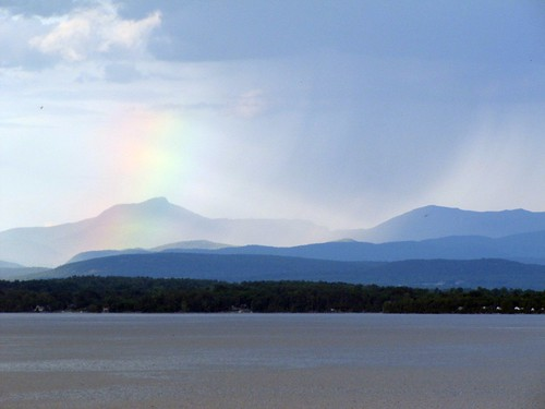 rainbow over Camel's Hump