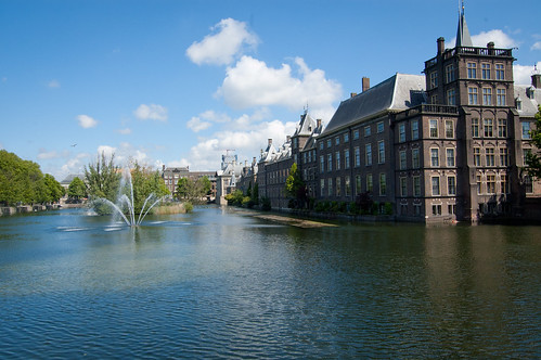 Binnenhof parliament complex in The Hague, Netherlands