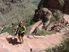Clare on Bright Angel Trail