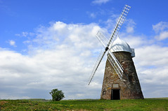 The windmill (eva p.) Tags: sky nature windmill grass architecture view