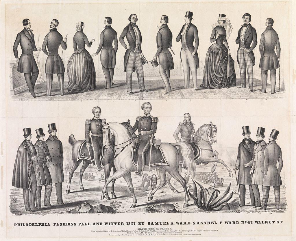 Philadelphia fashions fall & winter 1847 by Samuel A. Ward & Asahel F. Ward, no. 62 Walnut St., c1847.