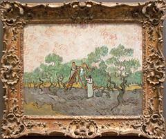 Vincent van Gogh - Women Picking Olives (ahisgett) Tags: newyork art museum painting manhattan vincent vangogh metropolitan impressionist metropolitanmuseumofart