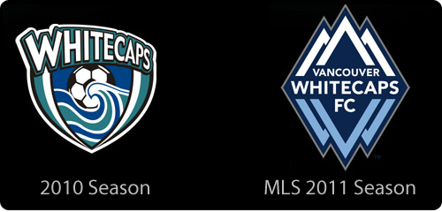 New Whitecaps logo for MLS 2011 season