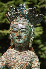 Tibetan Buddha Amitayus (TREASURES OF WISDOM) Tags: love strange statue bronze wow ancient worship lotus buddha buddhist magic prayer buddhism tibet collection unknown crown tibetan unusual spirituality brilliant deity votive himalayan artefact headdress diety unseen namaste asianart shamanism tantric bronzes tribalart amitayus ૐ indianbronze buddhasandbodhisattvas
