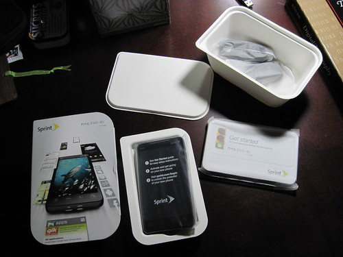 HTC Evo Unpacking