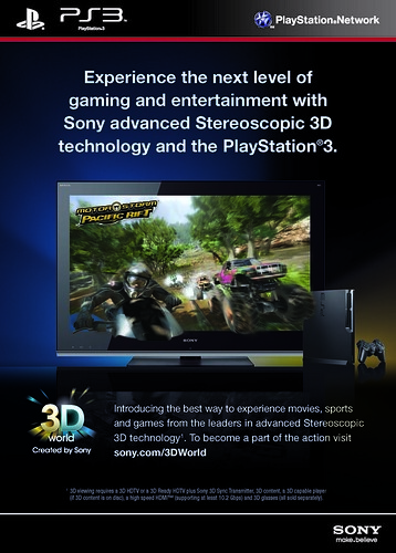 Stereoscopic 3D Gaming on PlayStation 3