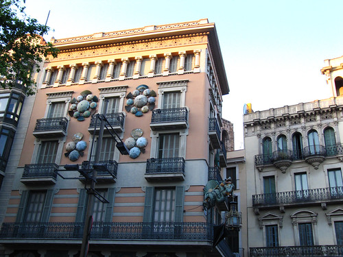 silk umbrella house on La Rambla